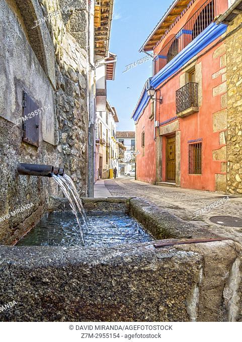 Fuente en Cuacos de Yuste. Cáceres. Extremadura. Spain