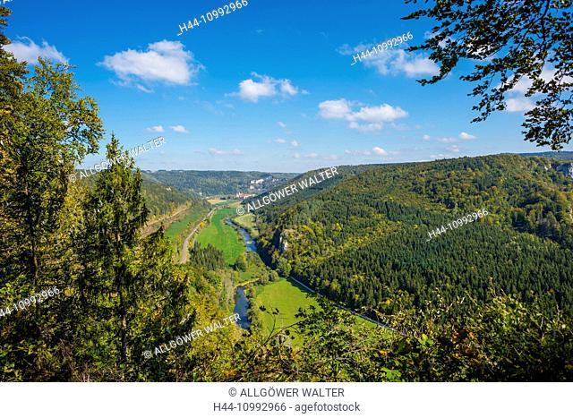 Archiabbatia Sancti Martini Beuronensis, Baden-Wurttemberg, Benedictine, cloister, Beuron, Germany, Danube, Danube breakthrough, Danube valley, railroad line