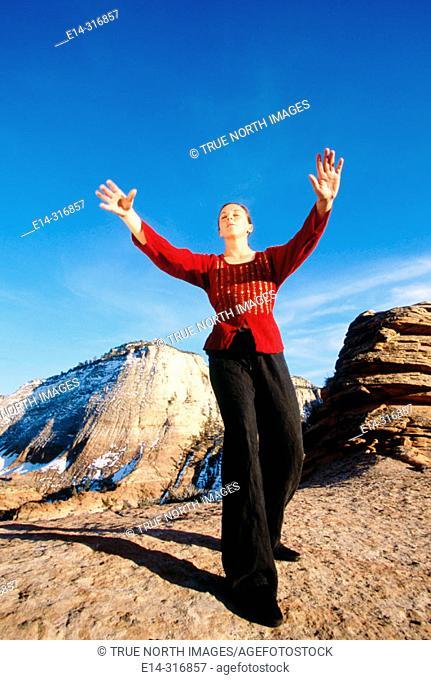 Qigong. Zion National Park. Utah. USA