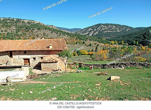 Farmland in Gudar mountains, Teruel, Aragon, Spain