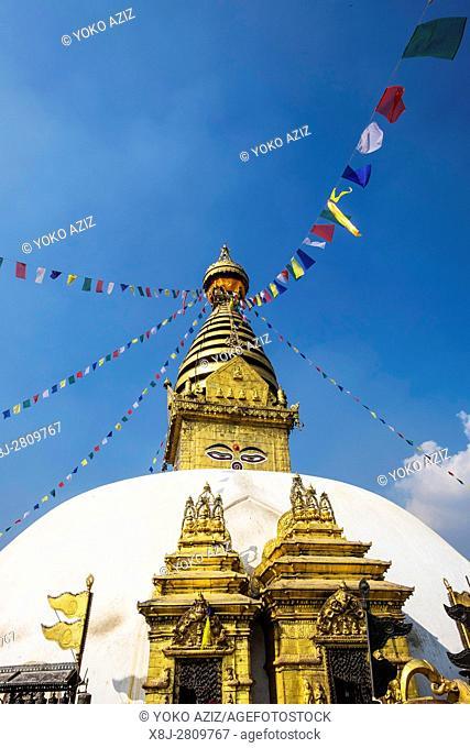 Nepal, Kathmandu, Swayambhunath temple