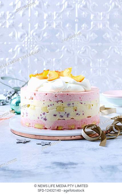 Raspberry trifle ice-cream cake
