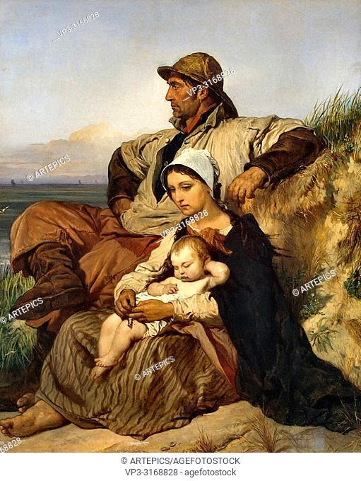 Gallait Louis - a Fisherman's Family