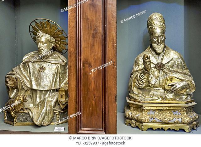Naples Campania Italy. The treasure inside the Sacred Relics Chamber in San Domenico Maggiore, a Gothic, Roman Catholic church and monastery