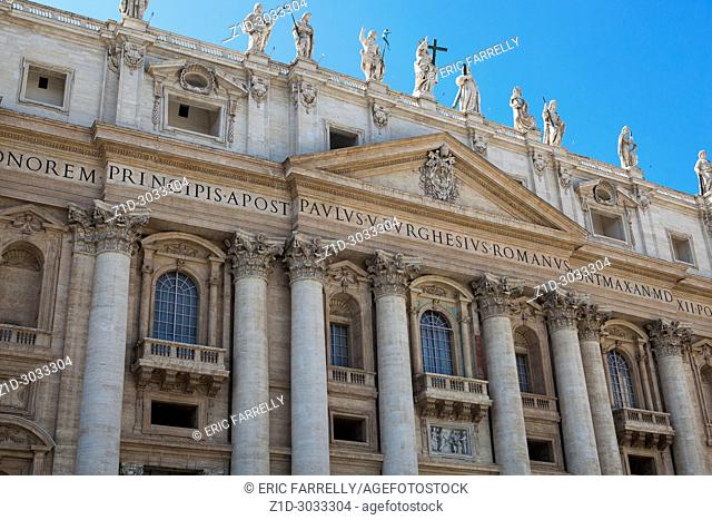 The Vatican. St Peter's Basilica Rome Italy