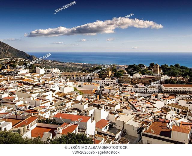 White village Mijas, Costa del Sol Malaga province. Andalusia southern Spain