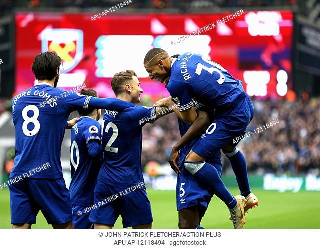 2019 EPL Premier League Football West Ham Utd v Everton Mar 30th. 30th March 2019, London Stadium, London, England; EPL Premier League football