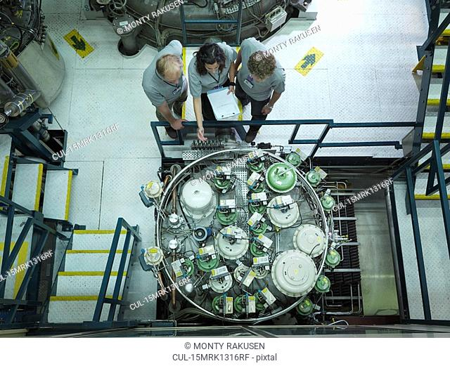 Fusion Reactor Scientists At Work