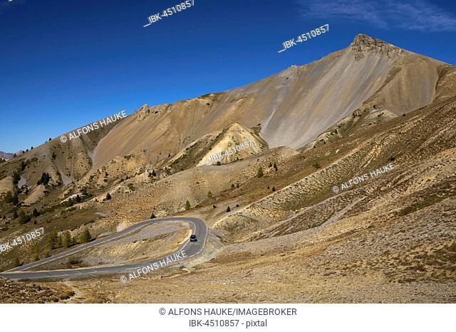 Pass road Col d'Izoard, Route des Grandes Alpes, the Hautes-Alpes, France