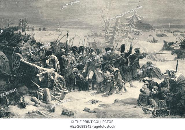 'Marshal Ney Sustaining The Rear-Guard of the Grand Army', 1812, (1896). Artist: Henry Wolf