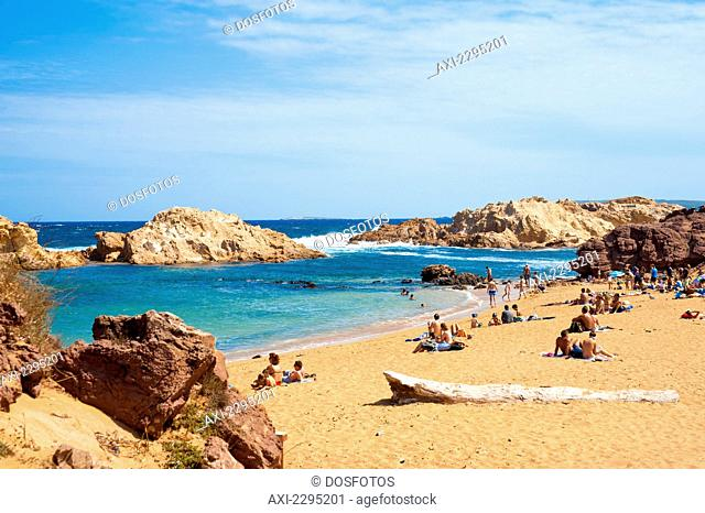 Cala Pregonda, Menorca, Balearic Islands, Spain