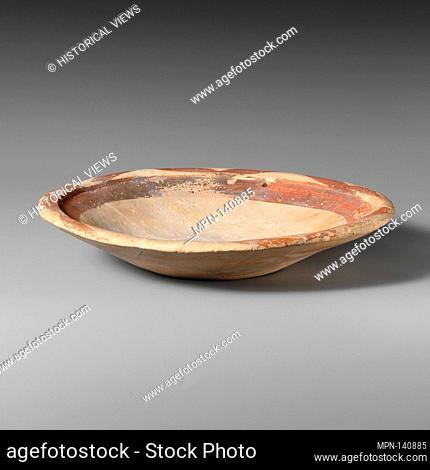 Terracotta shallow bowl. Period: Early Minoan II; Date: ca. 2900-2300 B.C; Culture: Minoan; Medium: Terracotta; Dark-on-light ware; Dimensions: Greatest...
