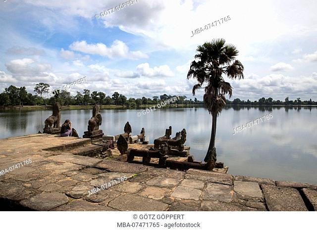 Siem Reap, Angkor, swimming pool of the king, Sra Srang