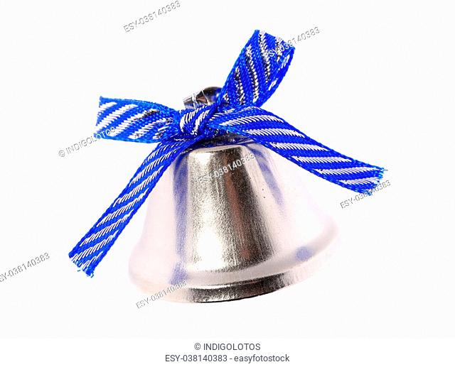 Jingle bell for christmas tree. Isolated on a white background