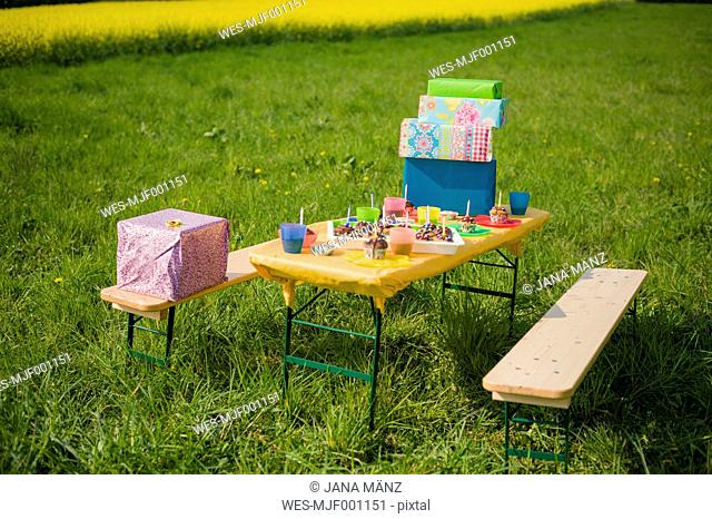 Table of children's birthday party