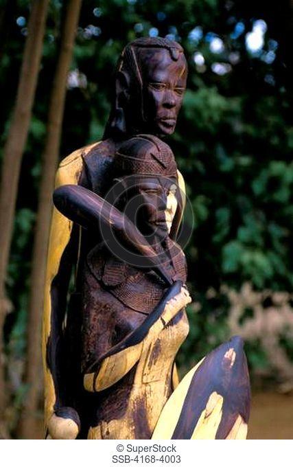 Kenya, Namanga, Tourist Rest Stop, Wood Carving, Ebony Wood