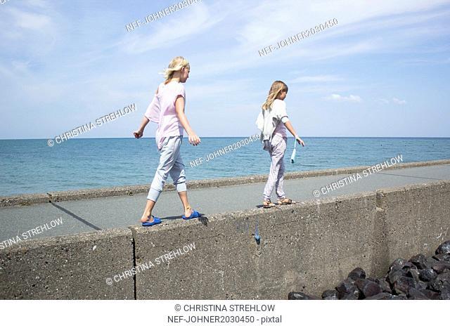 Girls at sea