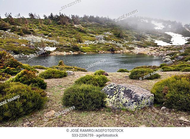 Chica Lagoon in Peñalara Natural Park. Sierra de Guadarrama. Madrid. Spain