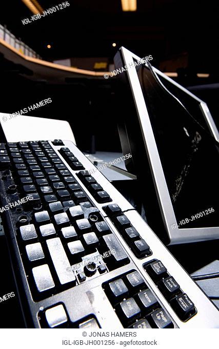 Broken keyboard and computer