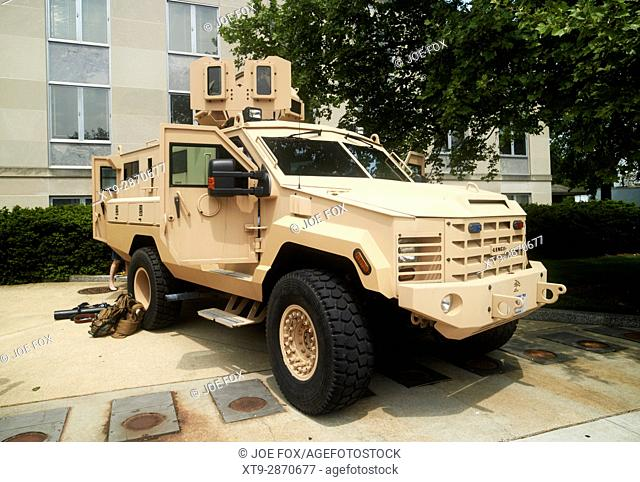state department lenco bearcat g5 close private security detail armored personnel vehicle Washington DC USA
