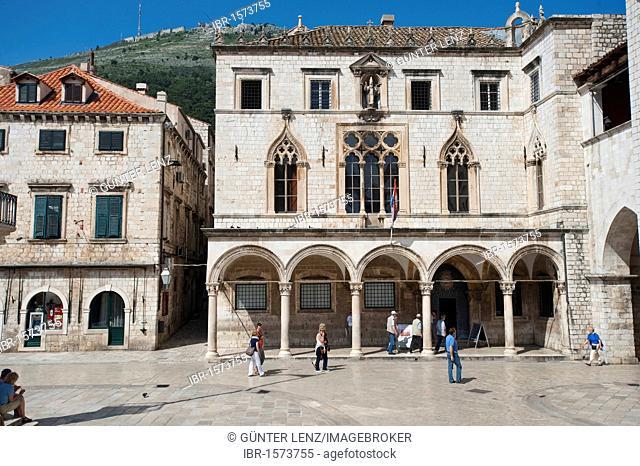 Sponza palace, Palazzo Sponza, Dubrovnik, Dubrovnik County, Croatia, Europe