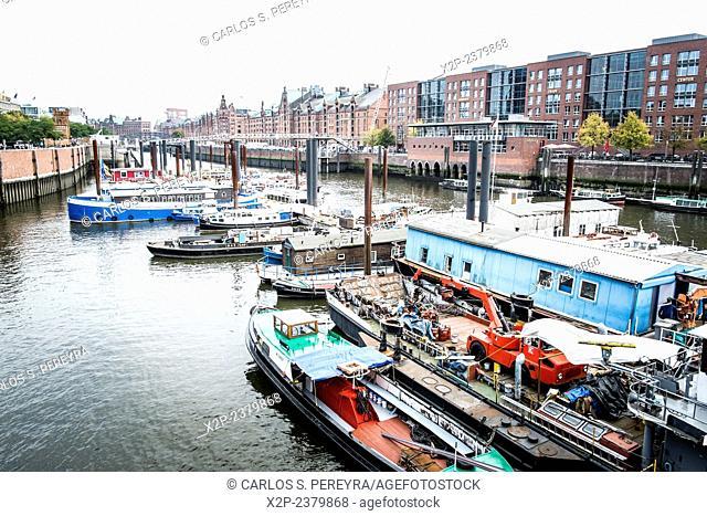 Harbor in Hamburg, Germany