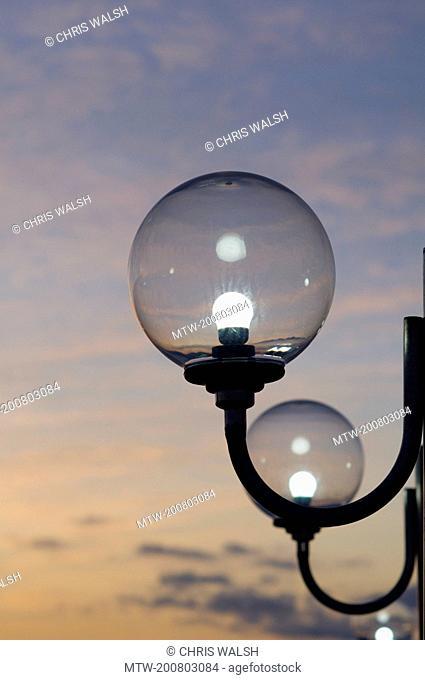 Lamps light sunrise globe glass row illuminated
