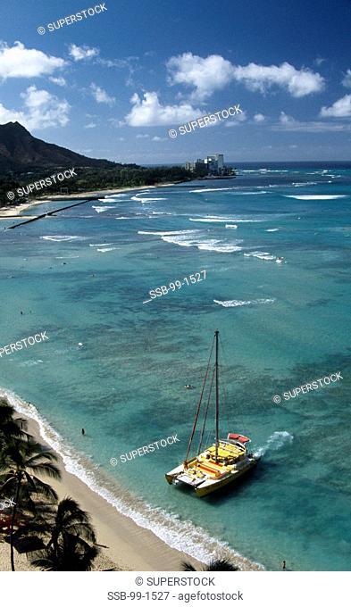 Waikiki Beach Honolulu Oahu Hawaii, USA