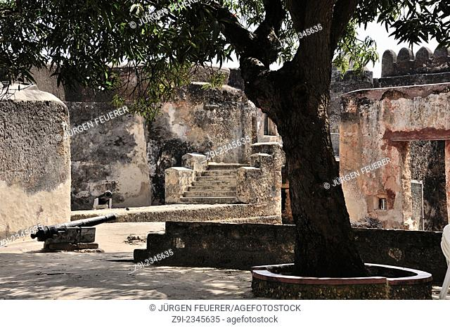 Historical Fort Jesus in Mombasa. History of the Portuguese in Africa. Mombasa, Kenya