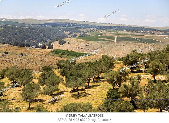 Aerial photograph of the fields of Kerem Ben Zimra in the Upper Galilee