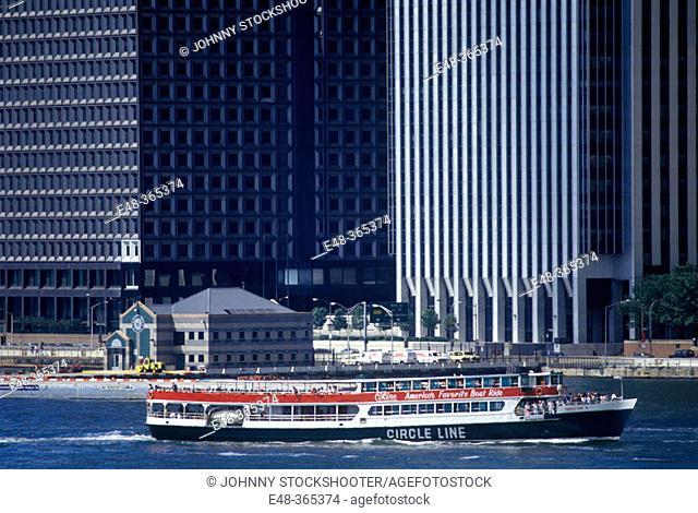 Circle Line ferry, downtown Manhattan. New York City, USA