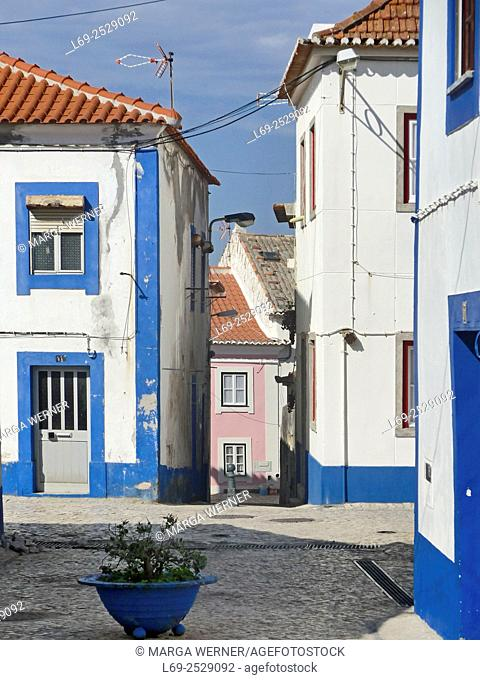 Old village of fishing village and holiday resort Ericeira, Atlantic coast, Region Centro, District Lisbon, Portugal, Europe