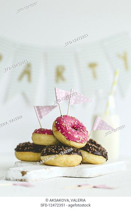 Glazed doughnuts for a party
