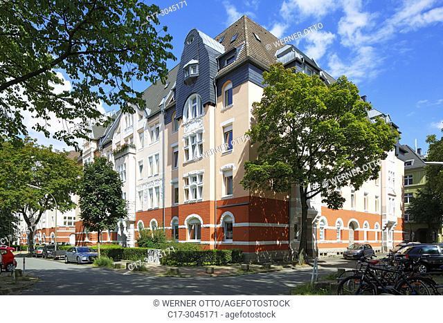 Dortmund, D-Dortmund, Ruhr area, Westphalia, North Rhine-Westphalia, NRW, Kreuzviertel, Cross Quarter, wealthy section, Arneckestrasse, Schillingstrasse
