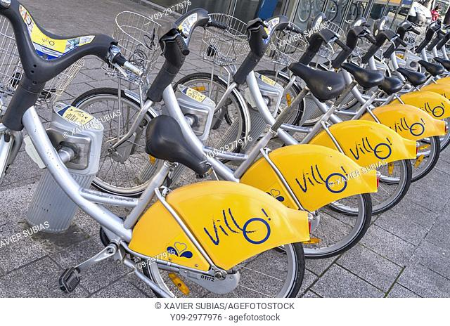 Villo, Public bicycle rental, Brussels, Belgium