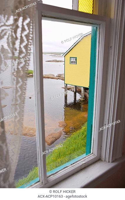 View from the bathroom of the Alphaeus Barbour House at the Barbour Living Heritage Village, Newtown, Bonavista Bay, Road to the Shore, Newfoundland & Labrador