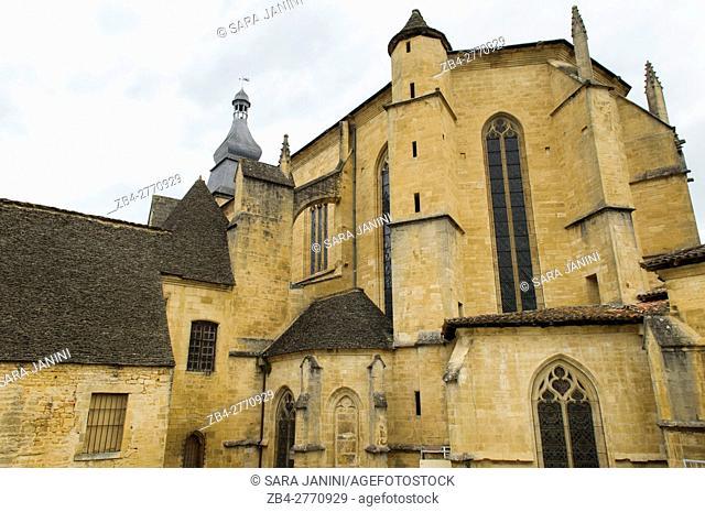Cathedral Saint-Sacerdos, Sarlat, Dordogne, Aquitaine, France. St. Sacerdos Sarlat Cathedral is a Roman Catholic cathedral French