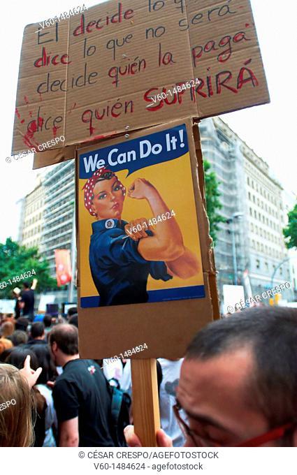 -Indignants Movement 15M- Barcelona (Spain)