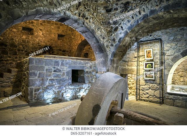 Armenia, Tatev, Tatev Monastery, 17th century oil press