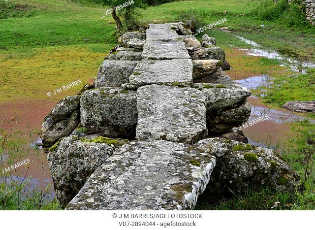 Popular architecture. Bridge building with granite blocks. Fariza, Sayago, Zamora Province, Castilla-Leon, Spain