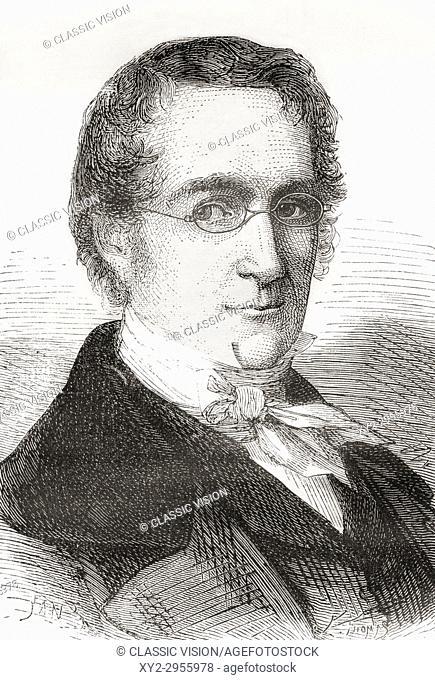 Joseph Louis Gay-Lussac aka Louis Joseph Gay-Lussac, 1778 - 1850. French chemist and physicist. From Les Merveilles de la Science, published 1870