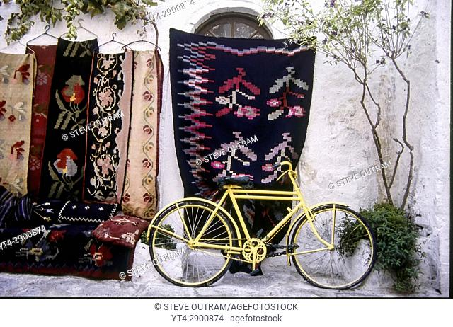 An Old Yellow Bicycle, Paros, Greece