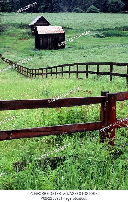 Pend Oreille valley ranchland, Pend Oreille County, Washington