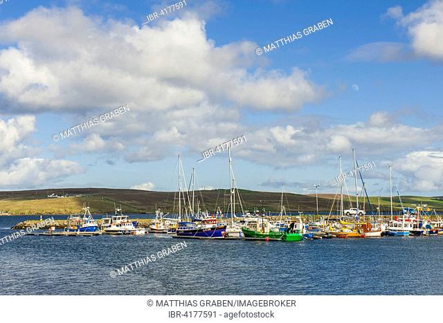Marina and fishing port, Lerwick, The Mainland Orkney, Shetland Islands, Scotland, United Kingdom