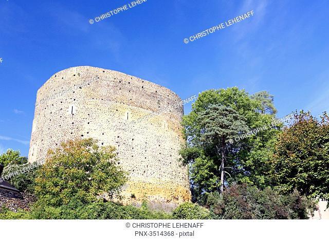 France, Burgundy, Yonne. Saint Sauveur in Puisaye. The Saracen Tower