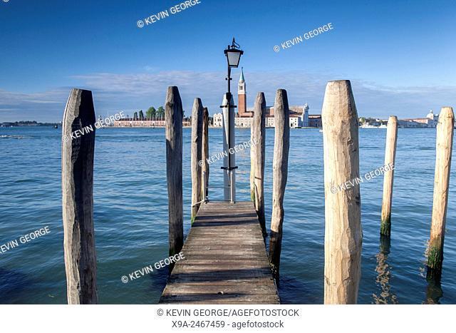 San Giorgio Maggiore Church and Pier, Venice, Italy