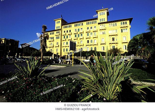 Italy, Tuscany, the Versilia, Viareggio, the Grand Hotel Royal