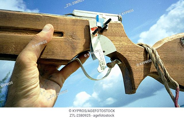 Home-Made Crossbow Weapon Intended For Self Defense. Tanzania. East Africa