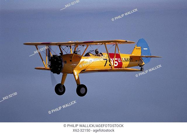 Stearman N2S, 1940's World War II vintage trainer, restored