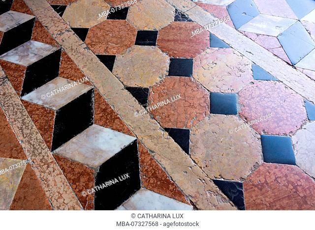 Venice, Basilica di Santa Maria della Salute, marble floor
